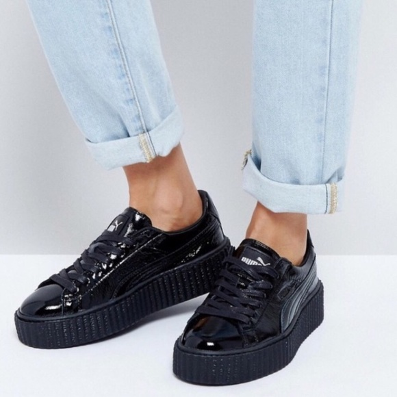 release date 625ad 9e34f Puma Creeper x Fenty by Rihanna Wrinkled Patent NWT
